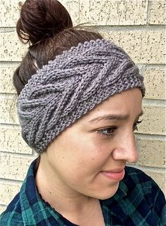 Knit chevron headband knit cable headband knit by JGRoseKnits