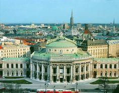 Burgtheater - Ringstraße mit Blick auf die Innenstadt   Wien   Bilder im Austria-Forum