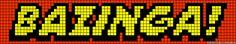 Bazinga! Big Band Theory perler bead pattern