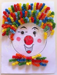 Purim Purim diy crafts for kids outdoors - Kids Crafts Kids Crafts, Clown Crafts, Circus Crafts, Summer Crafts For Kids, Preschool Crafts, Projects For Kids, Diy For Kids, Art Projects, Diy And Crafts