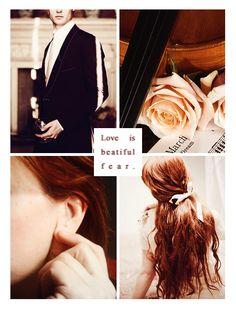 Love is a beautiful fear<3
