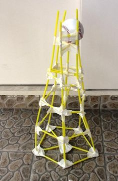 2013 - Build a Straw Tower and test it to see if it can hold the weight of various items. (via Flickr)