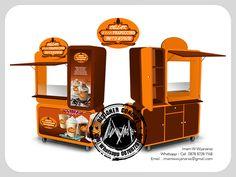 Food Kiosk, Thai Tea, Pop Display, Box Design, Container, Branding, Instagram, Popcorn, Sketch