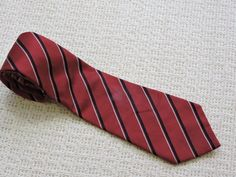 Donald J. Trump Signature Collection Red Striped 100% Silk Tie #DonaldTrump #Tie