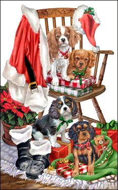 Cavalier King Charles Christmas cards are 8 x 5 and come in packages of 12 cards. Christmas Scenery, Whimsical Christmas, Christmas Animals, Christmas Cats, Merry Christmas, Christmas Music, Xmas, King Charles Spaniel, Cavalier King Charles
