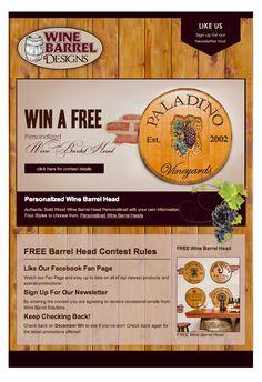 Wine Barrel Designs Custom Designed Facebook Contest Reveal Tab Wine Signs, Web Design Projects, Personalized Wine, Barrel, Custom Design, Facebook, Barrel Roll, Barrels