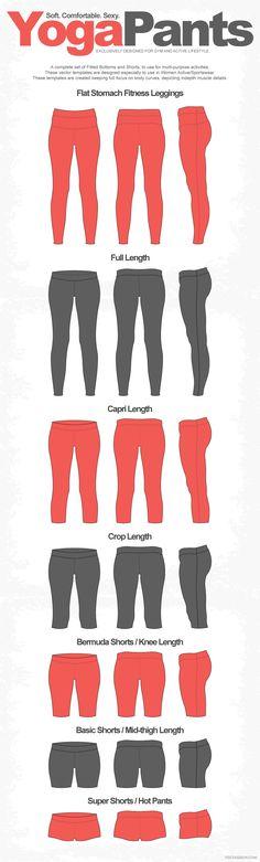 Women Yoga Pants Full Range Leggings by VecFashion on Creative Market