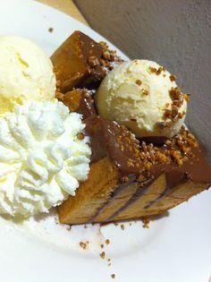 Honey toast with ice-cream