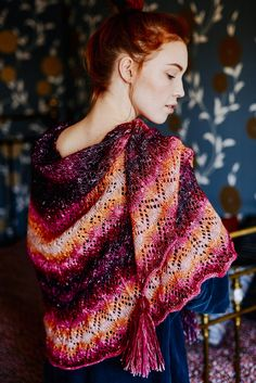 Nordic Yarns and Design since 1928 Shawl Patterns, Knitting Patterns Free, Free Knitting, Knitted Shawls, Crafts To Do, Shawls And Wraps, Plaid Scarf, Knit Crochet, Sari