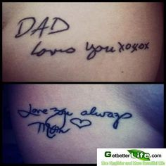 Memorable Tattoos for Dead Relatives or Best Friends