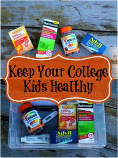 Help Keep Your College Kids Healthy by sending them a starter medicine kit when they leave home. #BeHealthyForEveryPartofLife #ad