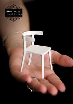 Dollhouse Miniatures modern furniture white by BoutiqueMiniatures