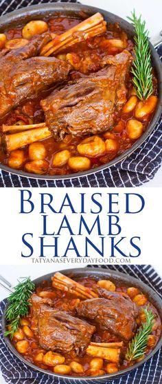 Braised Lamb Shanks in tomato sauce with gnocchi. Video recipe by Tatyana's Everyday Food