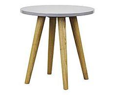 Table bois, gris et naturel - Ø45