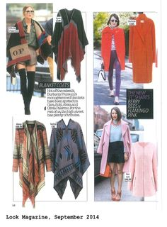 Look Magazine Look Magazine, Winter Outfits, Fall Winter, Topshop, Red, Pink, Collection, Women, Fashion