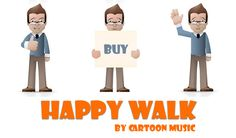 Happy Walk - this is a cheerful and upbeat melody with guitar, strings that will cheer up your child. | by CartoonMusic #cartoonmusic #happywalk