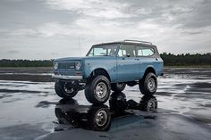 This 1973 International Scout II complete frame-off restoration has much of the original look enhanced with custom features by Velocity Restorations. International Scout Ii, International Harvester, Scout For Sale, Classic Ford Broncos, Ppg Paint, Old Pickup Trucks, Lifted Trucks, Air Conditioning System, Vintage Trucks