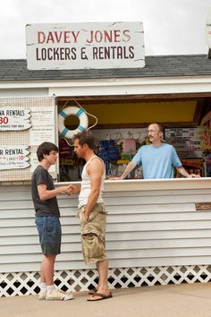 Liam James, Sam Rockwell, and Jim Rash in THE WAY WAY BACK -- out July 5th!