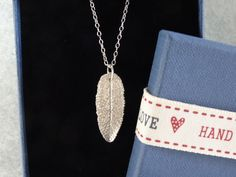 Silver pendant  real sage leaf necklace   by SilverWindsJewellery