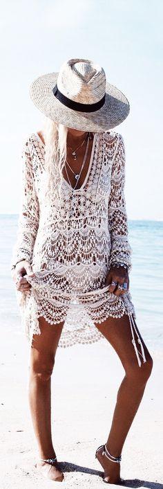 Boho lace style