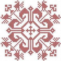 red cross stitch decoration free embroidery design. Machine embroidery design. www.embroideres.com
