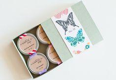 BUTTERFLY Lip Balm Gift Set - Natural Vegan Handmade Sugar-Free