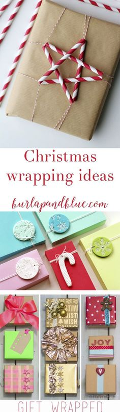 Christmas wrapping ideas and inspiration for creative holiday gifting!
