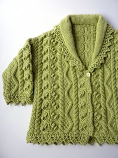 An absolutely stunning pattern. It's definitely an heirloom cardigan. The yarn was lovely too. Only modification was to add short rows, so I could three needle bind off the shoulders.