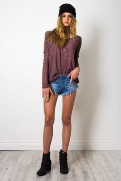Gab & Kate Sunset Beach Sweater - Purple