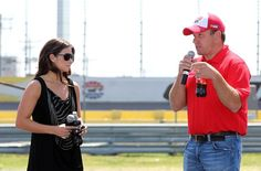 NASCAR Sprint Cup drivers Danica Patrick and Ryan Newman took part in a press event at Charlotte Motor Speedway on Thursday to help announce plans for fan activities surrounding the Coca-Cola 600 weekend and unveil a new race logo for the event.