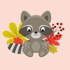 Create a Сute Raccoon Character in Adobe Illustrator
