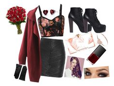 Date night?❤️❤️?? by cansu-celebi on Polyvore featuring polyvore, fashion, style, Balmain, Charlotte Olympia, EF Collection, Saks Fifth Avenue Collection and NARS Cosmetics