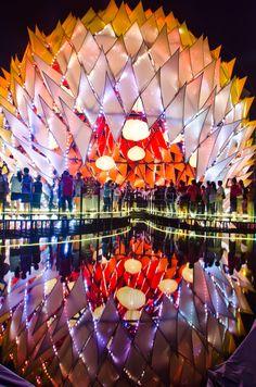 Architectural 'Moon' Lights Up Hong Kong