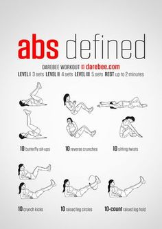 Abs Defined - Darebee Workout