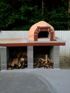 pizza oven construction project