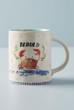 A pretty ceramic mug showcases the eclectic vibrant work of English watercolor artist Lucy Eldridge. A pretty ceramic mug showcases the eclectic vibrant work of English watercolor artist Lucy Eldridge. Isle Of Man, Malta, Grain Bowl, Agate Coasters, Kitchen Collection, Food Trends, Land Scape, Boho Decor, Stoneware