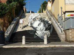 Ingrid Bergman ----- Diavù in Rome Stencil Graffiti, Graffiti Artwork, Street Art Graffiti, Urban Street Art, Urban Art, Street Installation, Pop Up Art, Amazing Street Art, Awesome Art