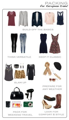 What to pack (not just for European travel)