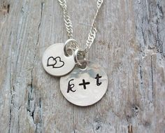 Personalised Initials and Design Stamp Sterling Silver Necklace  £21.00