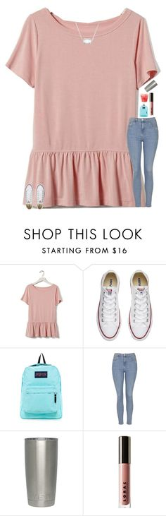 """""""how many kendra scotts do you have if any?"""" by texasgirlfashion ❤ liked on Polyvore featuring Banana Republic, Converse, JanSport, Topshop, LORAC and Kendra Scott"""