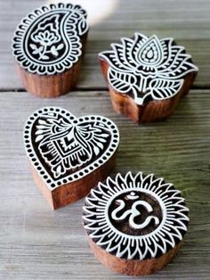 Mandala stamps to personalize paper - business cards.