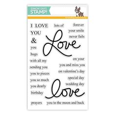 New from our Hey Love collection. Simon Says Stamp clear stamps are high quality photopolymer and made in the USA. The stamp set measures 4 inches x 5 inches. This stamp coordinates with our Love Is cling stamp and Love 2 wafer die Love Stamps, Clear Stamps, Hey Love, Love You, Valentine Day Special, Valentine Cards, I Sent You, Card Sentiments, Forever Yours