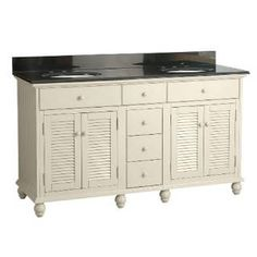 "Check out the Pegasus CTAA6022D Cottage 60"" Vanity Premium in Antique White priced at $1,049.07 at Homeclick.com."