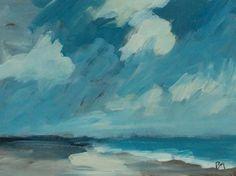 original acrylic painting landscape beach painting. $48.00, via Etsy.