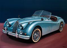 Jaguar XK140 1954 Painting