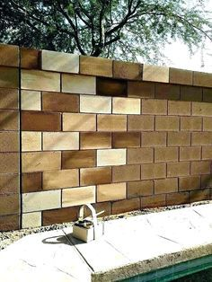 Can You Give Me Ideas For Large Stenciled Designs For A Wall In 2020 Decorating Cinder Block Walls Cinder Block Garden Wall Cinder Block Walls