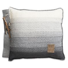 Pillow 50x50 - Mae grey mele by Knit Factory www.knitfactory.nl