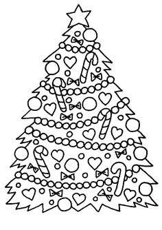 coloring-simple-christmas-tree, From the gallery : Kids Christmas