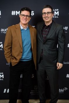 Stephen Colbert and John Oliver arrive at the Post-Election Evening to Benefit Montclair Film Festival at NJ Performing Arts Center on November 19, 2016 in Newark, New Jersey.