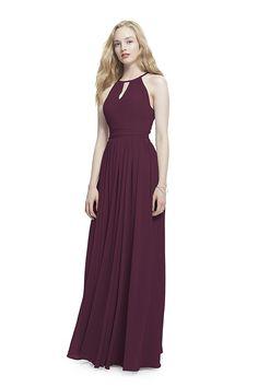 4b6757d7 Samatha Paige Keyhole Front Spaghetti Strap Halter Chiffon Dress, Black, 6  at Amazon Women's Clothing store: